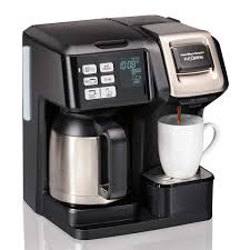 That means you can spend more time taking in that delicious caffeine and less time reheating your mug in the microwave. Hamilton Beach Flexbrew Trio Coffee Maker With Thermal Carafe Black 49966