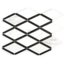 black and white diamond tile floor. GBI Tile \u0026 Stone Inc. Black And White Diamond Mosaic Marble Wall (Common Floor