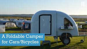 Bike Camper Trailer Homie A Foldable Camper For Cars Bicycles Youtube