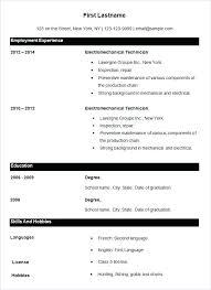 Resume Format Application Example Resume Sample Cover Letter