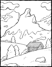 Paysage De Montagne Kiddi Kleurprenten