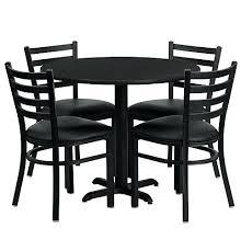black round dining table set inch round black laminate dining table set with 4 black chairs