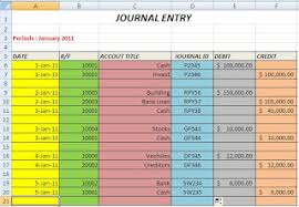 Excel Journal Entry Template Excel Tips Tutorial