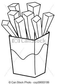 french fries clipart black and white.  Clipart French Fries Doodle  Csp39003199 Throughout Clipart Black And White R