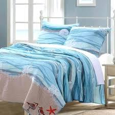 coastal beach nautical blue cotton quilt set tropical luxury bedding