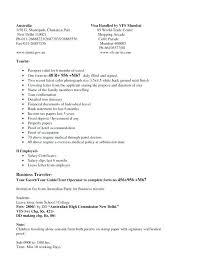 Sample Cover Letter Australia Sample Cover Letter For Tourist Visa