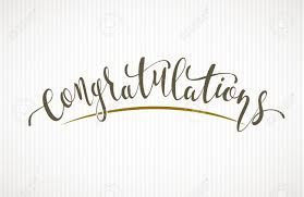 Congratulations Vector Lettering On Light Background