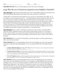 american expansion or imperialism dbq five paragraph essay pre write