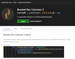 Some Must Have Vs Code Extensions 1 Bracket Pair