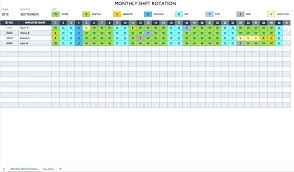 Monthly Work Schedule Template Excel Free Templates For Word And