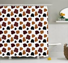 Cow Print Shower Curtain Abstract Cow Hide Print For Bathroom 70