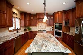 Cherry Shaker Kitchen Cabinets Beautiful Woodridge Kitchen Remodel Cherry Cabinets In Shaker