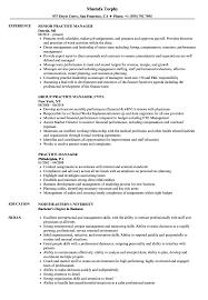 Practice Manager Resume Practice Manager Resume Samples Velvet Jobs 8