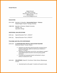 Resume Samples Special Education Paraprofessional Save Special
