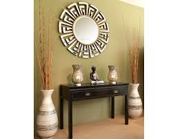 Small Picture Contemporary Art Deco Round Mirror Statement Circular Mirrors