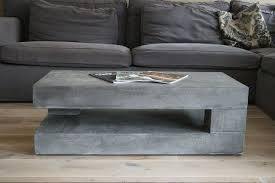 glass coffee table diy concrete furniture