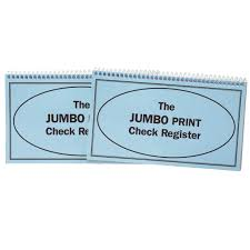 Checkbook Registers To Print Large Print Check Register Wide Line Checkbook Register