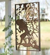 metal garden wall art fairy wall art