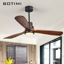ceiling fans with lights for living room. Botimi New LED Ceiling Fan For Living Room 220V Wooden Fans With Lights 52 Inch Blades Cooling Remote Lamp -in From