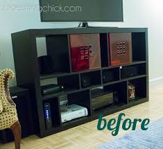 how to spray paint laminate furniturePaint Ikea Furniture Updated TV Stand  Shoestring Chick