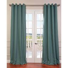 exclusive fabrics furnishings semi opaque jadite green bellino grommet blackout curtain 50 in
