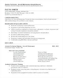 Aircraft Mechanic Resume Examples Mechanic Resume Examples Mwb Online Co