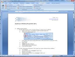 Endnote Cwyw In Word 2007 Pc