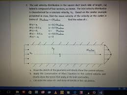 question replace the segmented linear velocity profile at the with the following velocity profile a