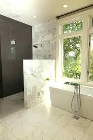 half wall shower pony wall shower half glass no door kohler shower wall jets