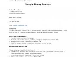 Innovational Ideas Nanny Resume Examples 12 Sample Resume For A