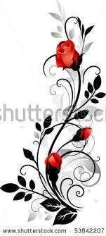 Stock Vector Ornament With Roses Nápady Do Domu šablony