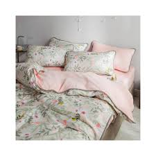 printed edging flannel bedding set 21 colors pure cotton for double sided use duvet cover set bed set skirt twin queen king size size king color pink a