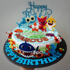 Baby Shark Cake Design Baby Shark Edible Image Fresh Cream Cake