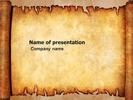 Ancient Powerpoint Template Scroll Presentation Template For