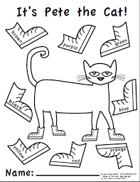 Small Picture Luxury Pete The Cat Coloring Page 14 For Coloring for Kids with