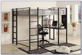 image of queen size loft bed frame metal