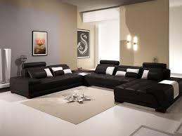 room ideas with black furniture. Stunning Living Room Decorating Ideas Black Leather Furniture Sectional Sofa White Fabric Simple Rug Regtangle Cushion With
