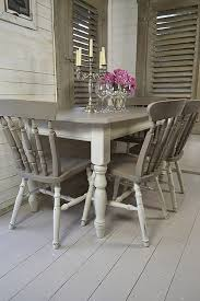 shabby chic dining room furniture. Grey \u0026 White Shabby Chic Dining Table With 4 Chairs Artwork Shabby Chic Dining Room Furniture