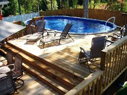 Pool And Deck Ideas Square Above Ground Pool With Deck Above Ground