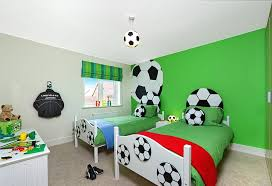 boys football bedroom ideas. Sports Themed Bedrooms Football Theme With Wallpaper And Ball Ceiling Lighting Beds Boys Bedroom Ideas E