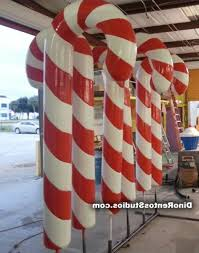 Big Candy Cane Decorations Hardcoated Foam Candy Cane Big Candy Cane Decorations 60 37