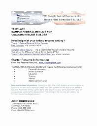 Usa Jobs Resume Builder Interesting Recent Graduate Federal Resume Sample Fresh Usajobs Resume Builder