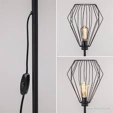 Draad Vloerlamp Mat Zwart Scandinavisch Straluma