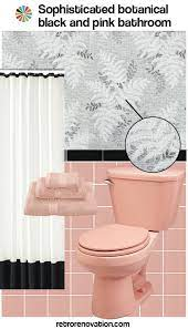 decorate a pink and black bathroom