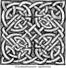 Celtic Pattern Classy Traditional Celtic Pattern Celtic Knots Pattern In Ink Hand Drawn
