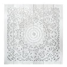 white carved wood wall art white wash teak carved bed headboard from mandala carved wood wall art white carved wood wall art uk
