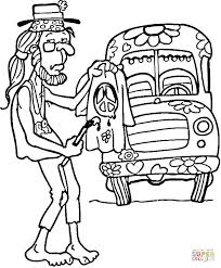 Small Picture Hippie Man coloring page Free Printable Coloring Pages
