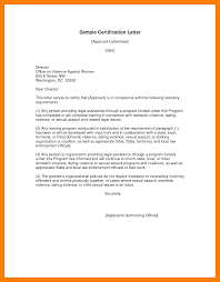 6 Certificate Letter Templates Weekly Template
