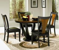 nice decoration black round dining table set lighting trendy small kitchen table for 4 6 round