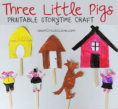 printable storytime craft three little pigs good for retelling story